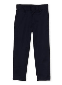 Boys 4-7 Adjustable Waist Twill School Uniform Pants - 6941060990002