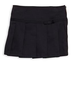 Girls 2T-4T Two Tab Scooter Skirt School Uniform - 6960008930004