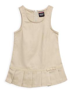 Girls 2T- 4T Pleated Hem Jumper School Uniform - 6963008930003