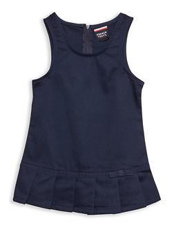 Girls 2T- 4T Pleated Hem Jumper School Uniform - 6963008930004