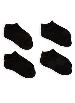 Set of 4 Black Ankle Socks - 7045041455852