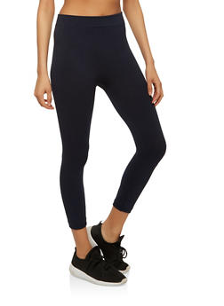 Basic Cropped Leggings - 7067041456443