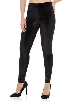 Black Velvet Leggings - 7069001440638