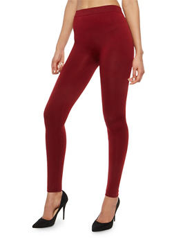 Red Fleece Lined Leggings - 7069001440768