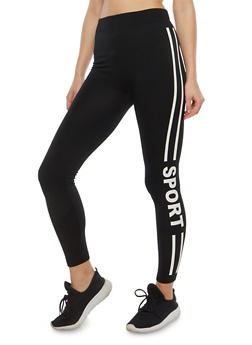 Sport Graphic Fleece Lined Leggings - 7069041450130