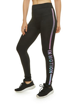 In Motion Iridescent Graphic Leggings - 7069041450137
