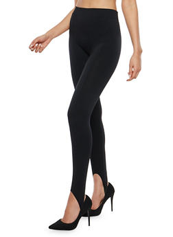 Fleece Lined Stirrup Leggings - 7069041451329