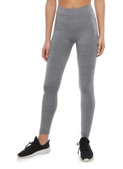 Heather Grey Basic Leggings - 7069041452342
