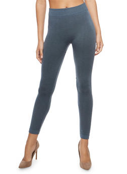 Stone Terry Lined Leggings - 7069041454442
