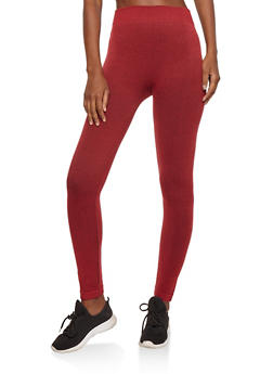 Red French Terry Leggings - 7069041454443