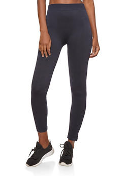 Navy Terry Lined Leggings - 7069041454448