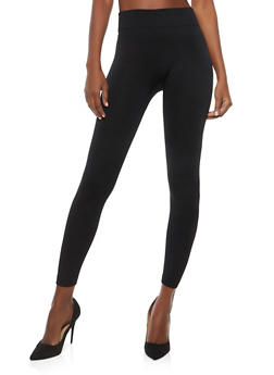 Black Fleece Lined Leggings - 7069059160100