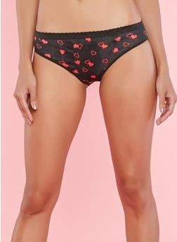 Set of 5 Printed and Solid Panties - 7150035160684