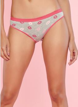 Pack of 5 Solid and Printed Panties - 7150035160697