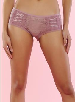 Lilac Lace Boyshort Panties - 7150035160706