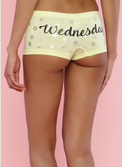 Day of the Week Kiss Boyshort Panties - 7150035161359