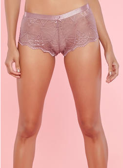 Lace Cheeky Boyshort Panties - 7150068060728