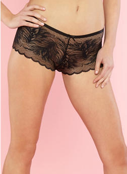 Lace Boyshort Panties - 7150068061141