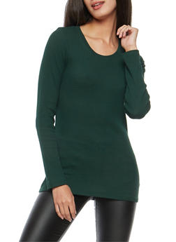 Basic Thermal Crew Neck Top - 7204054268920