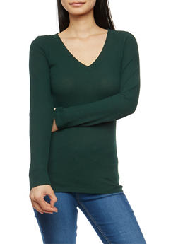 Basic Thermal V Neck Top - 7204054268921