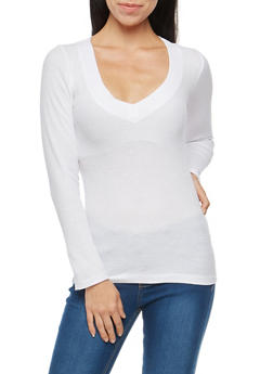 Long Sleeve Thermal Top - WHITE - 7204054268922