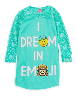 Girls 4-16 I Dream in Emoji Nightgown - 7568054730321