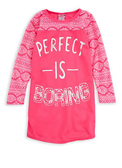 Girls 4-16 Perfect is Boring Graphic Nightgown - 7568054730322