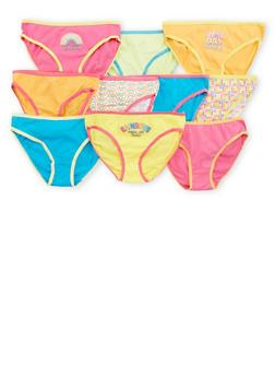 Girls 7-16 10 Pack of Multi Colored Panties - 7568054730510
