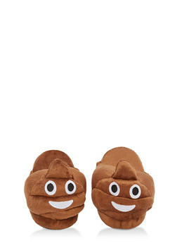 Girls 12-4 Poop Emoji Slippers - 7570057260005