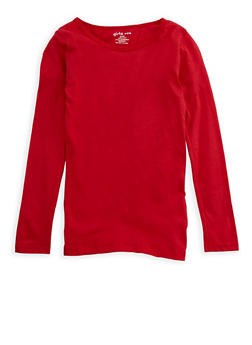 Girls 7-16 Long Sleeve Crew Neck T Shirt - 7604061950006