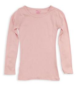Girls 7-16 Long Sleeve Crew Neck T Shirt - 7604061950006