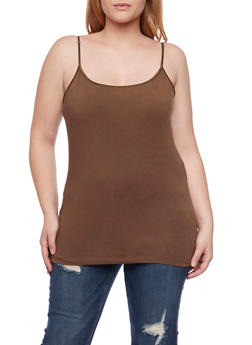 Plus Size Tank Top with Built-In Bandeau - 8413054260061