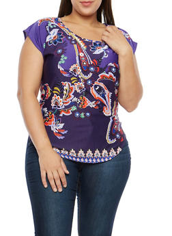 Plus Size Printed Top - 8429020624400