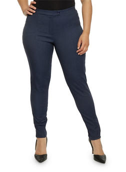 Plus Size Stretch Knit Dress Pants - 8441020621676