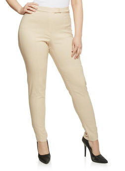 Plus Size Stretch Knit Dress Pants - 8441020621676