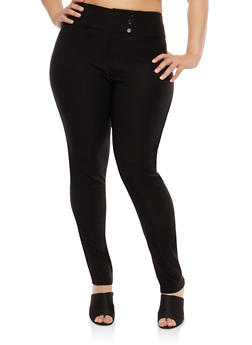 Plus Size High Waisted Dress Pants - 8441020622378