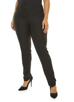 Plus Size Solid Ponte Pants - 8441020622498