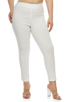 Plus Size Basic Skinny Dress Pants - 8441020622764