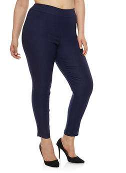 Plus Size Basic Skinny Dress Pants - 8441020622764