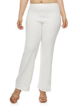 Plus Size Textured Knit Pants - 8441020623153