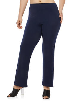 Plus Size Textured Knit Pants - 8441020623153