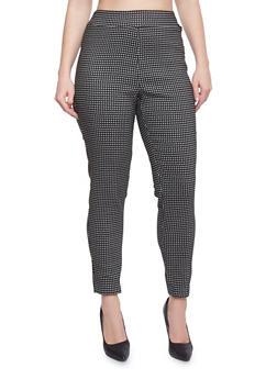 Plus Size Printed Knit Dress Pants - 8441020623217