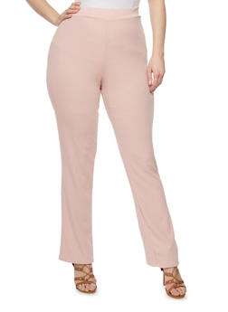 Plus Size Flared Rib Knit Pants - 8441020624237