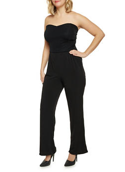 Plus Size Strapless Jumpsuit with Cutout Back - 8441020625529