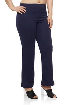 Plus Size Textured Knit Pants - 8441020625610