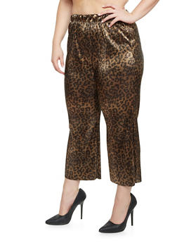 Plus Size Palazzo Pants in Crinkled Knit - 8441020626363