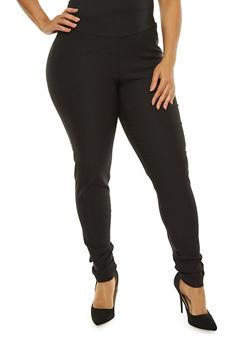 Plus Size Solid Ponte Pants - 8441020626532