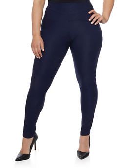 Plus Size Skinny Twill Pants - 8441020626536