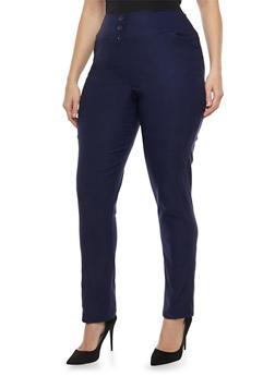 Plus Size Stretch Skinny Pants - 8441020626664