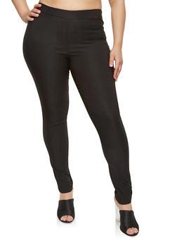 Plus Size Solid Dress Pants - 8441020626777